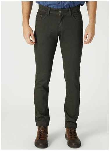 Altınyıldız Classics Altınyıldız Classic Slim Fit Dar Kesim Armürlü Casual  Pantolon Haki